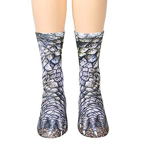 YHONG-Socks Adulto Unisex Gatito Bonito Cat Paw Calcetines, Animal Paw 3D Impresión...