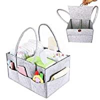 Diaper Caddy Organiser, XGZ Nappy Organiser Diaper Organiser Storage Bag with Cover Baby Shower Gift Basket for Mom Newborn Kids Nappies Toys Car Travel