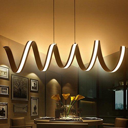 MZP L900 x W245mm Aluminium LED Kronleuchter Licht für Esszimmer Raum Studie Raum Kronleuchter, 85-265V lampadario , warm white (White Metalldampflampe Warm)