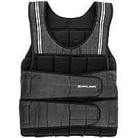 Capital Sports Vestpro 20 Chaleco de peso lastrado (Weightvest 20 kg, 38 pesas de caucho suave, entrenamiento en casa, comodo resistente)