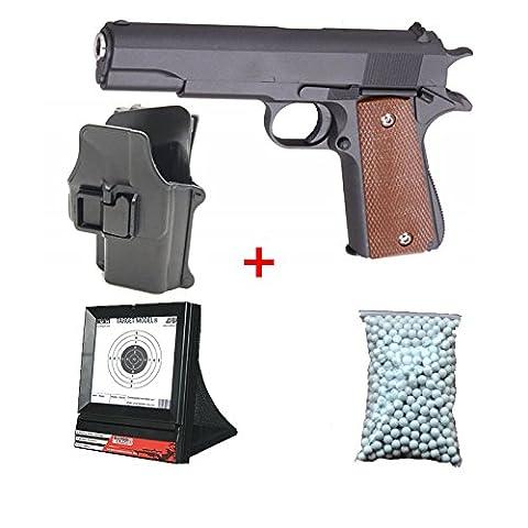 Cible Pistolet A Bille - Pack Cadeau Galaxy M1911 Avec son Holster