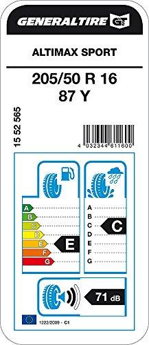 General Tire Altimax Sport - 205/50/R16 87Y - E/C/71 - Pneu été