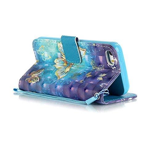 Cover per iPhone 5 Card Slots,Custodia per iPhone 5S ,Bonice Premium Multifunzionale Pelle Portafoglio Staccabile Detachable Removable Folio Zipper Protettivo Case Multiplo Extra Slot per Carte Conser model 3