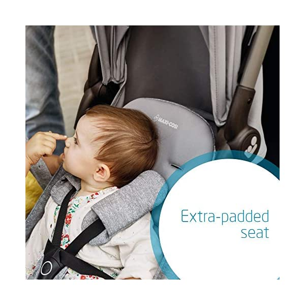 Maxi Cosi Laika 2 Baby Pushchair, Ultra Compact and Lightweight Stroller from Birth, Easy Fold, 0 Months-3.5 Years, 0-15 kg, Sparkling Blue Maxi-Cosi Urban stroller, suitable from birth to 15 kg (birth to 3.5 years) Remove the seat and transform into a pram by attaching our Laika Soft Carrycot or add any Maxi-Cosi baby car seat for a full from-birth mobility solution (sold separately) One-hand fold to easily fold stroller using only one hand 5