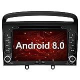 Ohok 7 Pollici Android 8.0.0 Oreo Octa Core 4G+32G 2 Din In Dash Autoradio Schermo di Tocco Lettore DVD Navigatore GPS Con Bluetooth Per Peugeot 308 2011 2012 2013 nero