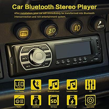 Amaseaudio-Single-Din-LED-Bluetooth-Freisprecheinrichtung-MP3-WMA-DAB-FM-Autoradio-Stereo-USB-SD-Subwoofer-BT-AUX-RCA-Lossless-Digital-Audio-Broadcast-Player