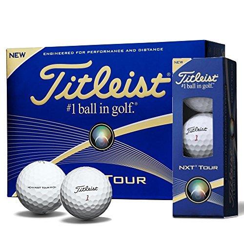 Titleist NEW NXT Tour Golf Balls (1 DZ) White by Titleist -