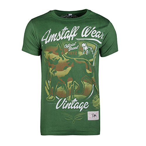 Amstaff Vintage Perro T-Shirt - grün XXL