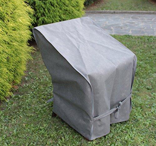 PEGANE Housse de Protection pour Pile de chaises en Polyester, Coloris Taupe - Dim : 65x65x90/120 cm