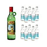 Xoriguer Gin Mahon und Fever Tree Mediterranean Tonic Water Set (1 x 0.7 l Gin und 10 x 200ml Tonic)
