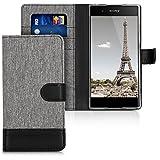 kwmobile Sony Xperia XA1 Plus Hülle - Kunstleder Wallet Case für Sony Xperia XA1 Plus mit Kartenfächern und Stand
