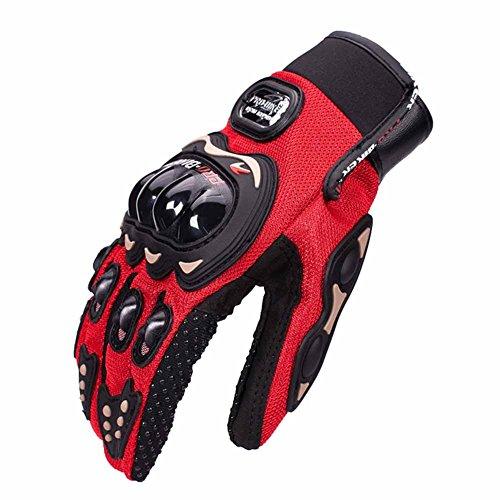 Tracffy Vollfinger Motorradhandschuhe für Herren und Damen Sommer Winter Motocross Fahrrad MTB Roller Sport Handschuhe