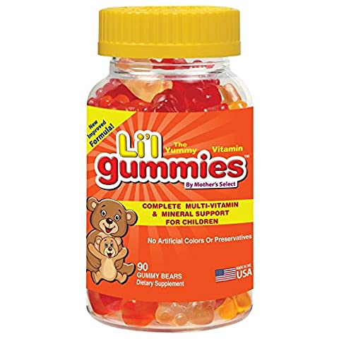 Childrens Gummies - Complete Kids MultiVitamin and Mineral Support in Childrens Vitamins - Mother's Select Li'l Gummies Contain Vitamins A, C, D, E, B & More - Improved Great Tasting Gummy