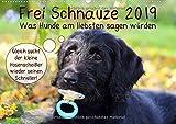 Frei Schnauze 2019. Was Hunde am liebsten sagen würden (Wandkalender 2019 DIN A2 quer): 12 witzige Aussagen, Hunden in die Schnauze gelegt! (Monatskalender, 14 Seiten ) (CALVENDO Tiere)