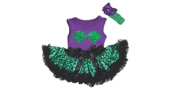 Petitebella Happy Easter Black Romper Gold Scales Mermaid Baby Skirt Nb-12m