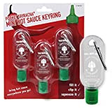 Pocket Sriracha Mini Sriracha Hot Sauce Bottle Keyring 3 PACK Bring Hot Sauce with you Everywhere - Great Chilli Sauce Gift (Shipped Empty)