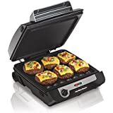 3-in-1 cooking : Hamilton Beach 3-in-1 MultiGrill Indoor Grill, Griddle & Bacon Cooker (25600)