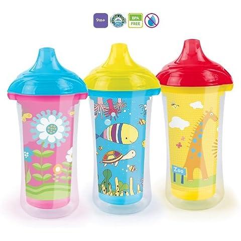 Insulated Baby Tazza Munchkin Click Lock Bicchieri Senza BPA, 9m +