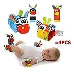 4 x Cute Animal Infant Baby Plüschtie...