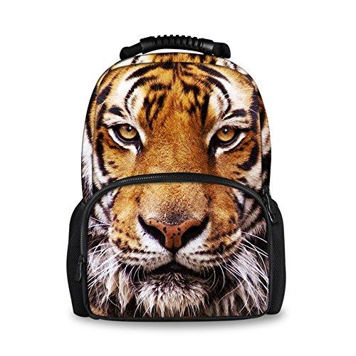 Coloranimal elegante 3D animali dello zoo modello zaini per bambini, scuola Book Bags tiger head L