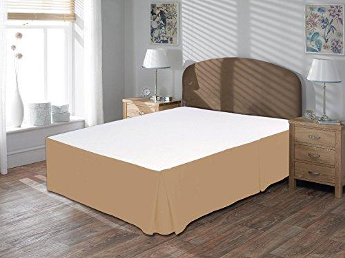 Komfort Bettwäsche 600tc 3Bettvolant 48,3cm Drop Länge Kaiser Größe 100% ägyptische Baumwolle massivem, taupe, Emperor (Zoll Bedskirt 19)