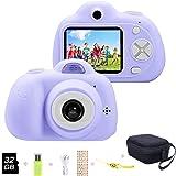 YunLone ToyZoom 1080P HD Bambini Fotocamera Selfie Macchina Fotografica 18MP Videocamera con Scheda 32 GB Regalo Compleanno p