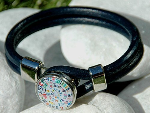 dark-blue-genuine-leather-bracelet-snap-jewelry-noosa-style-ginger-snaps-jewelry-interchangeable-sna