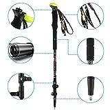 SJJ Bastoncini da Trekking, in Fibra di Carbonio Bastoni Trekking Ultralight 2-pc Pack con Sughero Grip e Quick Lock per Escursionismo/Campeggio/Mountaining/Zaino in Spalla/Trekking