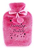 """Ladies Soft Pink Hot Water Bottle """"Snoozing Beauty"""""""