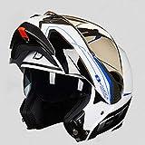 CPDZ Hochwertiges Bluetooth-Motorrad-Helm extrem langlebig Motorrad-Helm Dual-Objektiv universellen...
