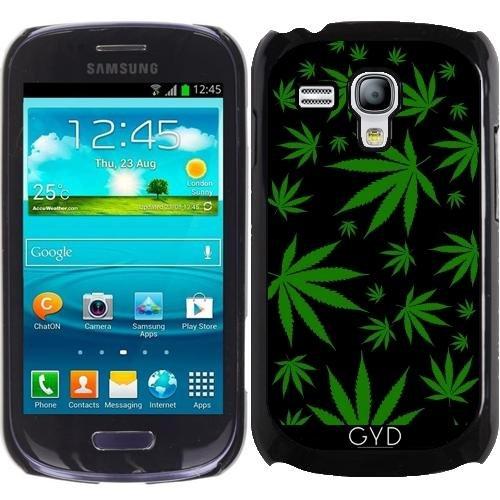 Hülle für Samsung Galaxy S3 Mini (GT-I8190) - Unkraut Auf Schwarz by loki1982 (Samsung Fall S3 Galaxy Unkraut)