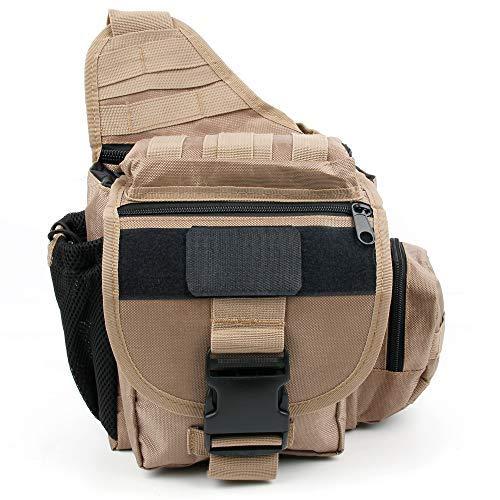 DURAGADGET Zaino Monospalla Militare per Action Camera TecTecTec! XPRO4+, ThiEYE T5e, VicTsing VT-0121-C, VDAC-20161228, EyproV, Yi 360 VR, 4K+ Action Camera, Lite–