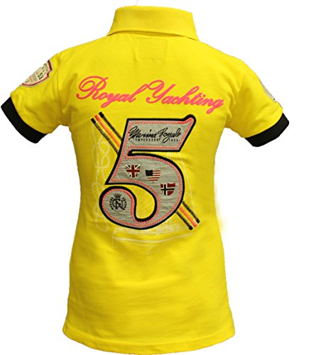 Geographical Norway Original Poloshirt für Damen �?Modell: KIPAWA - Frauen - Stylisches Casual Kurzarm Polo Shirt für Freizeit - Sport - T-Shirt Gelb