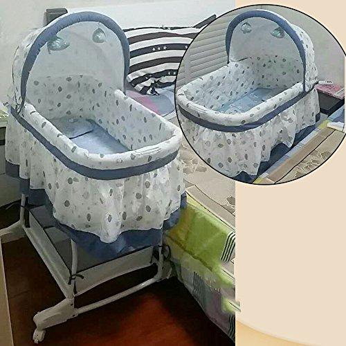 QFFL tilan Baby Korb Newborn Shaker Baby Cradle Schlafkorb Bett Prinzessin Bett 4 Farben Optional (Farbe : C)