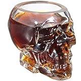 Verre Alcool Tete Mort Head Shot Skull Glass Crane Cristal Coupe vodka verrerie