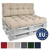 Beautissu ECO Style Coussins pour Canape Euro Palette - Assise, Banquette - 120x80x15 cm - Gris Graphite