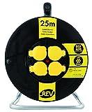 REV Ritter Kunststoff Kabeltrommel BGI608, IP 44, 25 m, H07RN-F, schwarz-gelb, 0010365512