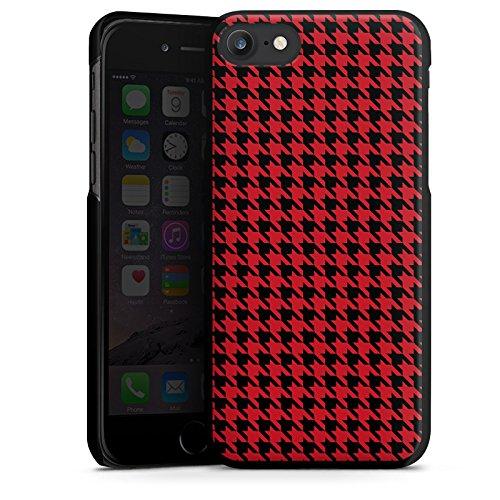 Apple iPhone X Silikon Hülle Case Schutzhülle Muster Hahnentritt Rot Schwarz Hard Case schwarz