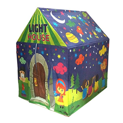 Adi Fluorescent LED light tent house for Kids play tent 3+