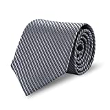 Expresstech @ Herren Krawatte Fashion Klassik 8cm mit Geschenkbox für Casual & Arbeitskleidung Geschäft Business Hochzeit - Grau