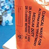 Klinische Abfälle Taschen–Medium Duty, 30 Litre/5 kg, Orange, 50