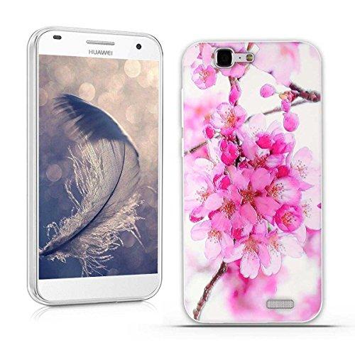 Huawei Ascend G7 (L01 L03 C199) Hülle, Fubaoda 3D Erleichterung Schöne Blume Muster TPU Case Schutzhülle Silikon Case für Huawei Ascend G7 (L01 L03 C199)