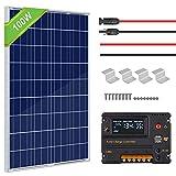 ECO-WORTHY Kit de panneau solaire 100W 120W 150W 200W pour camping-car caravane
