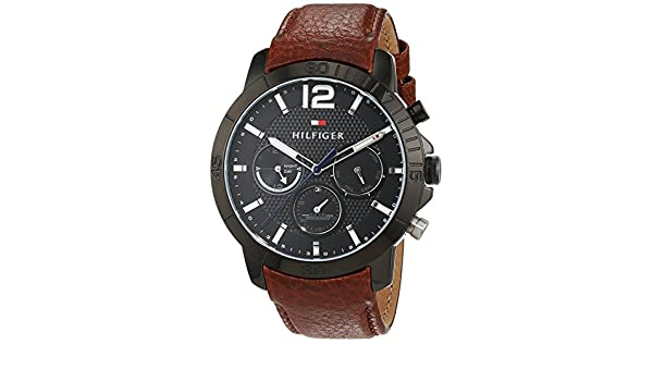 d8704616 Buy Tommy Hilfiger Analog Black Dial Men's Watch - TH1791269J Online at Low  Prices in India - Amazon.in