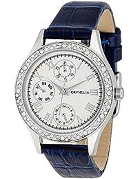 Orphelia Damen-Armbanduhr Analog Quarz Leder