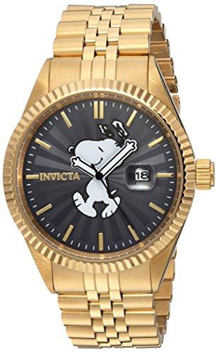 Invicta 24801 Character - Snoopy Herren Uhr Edelstahl Quarz grauen Zifferblat