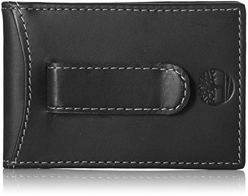 Timberland Men's Hunter Minimalist Slim Money Clip Wallet, Black, One Size