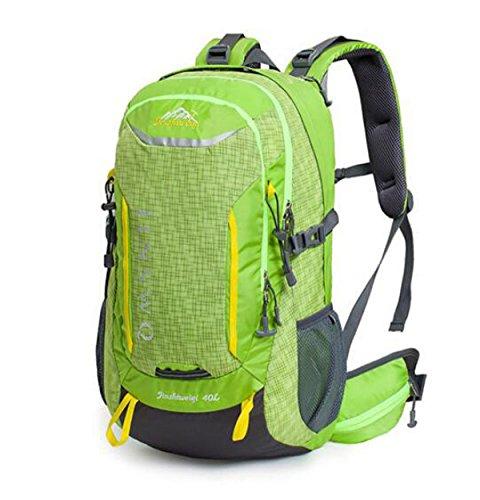 Groß Kapazität Bergsteigen Tasche Outdoor Wandern Rucksack Reisen Tasche Wasserdicht 40L Green