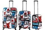 Saxoline Biz Paris Juego de maletas, 77 cm, 198 liters, Varios colores (Mehrfarbig)