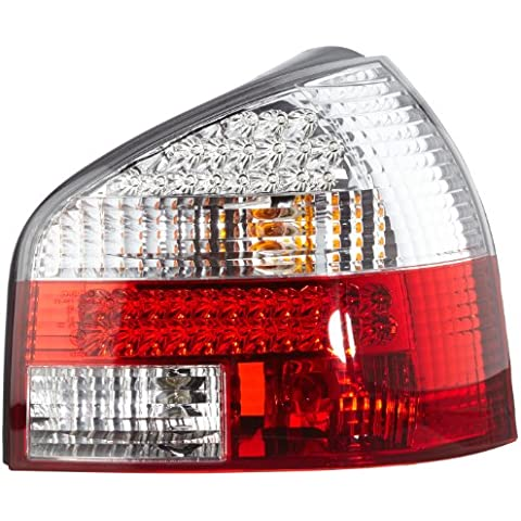 FK Automotive FKRLXLAI611 - Faros traseros LED para Audi A3 8L, año 96-02, color rojo y blanco